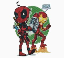 Deadpool and Iron man Kids Clothes