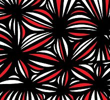 Rampa Abstract Expression Red White Black by martygraw