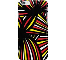 Streifel Abstract Expression Yellow Red Black iPhone Case/Skin