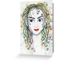 Rainbow haired elfette  Greeting Card