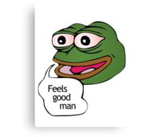 Feels Good Man Meme Canvas Print