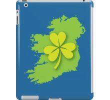 IRELAND map with a shamrock iPad Case/Skin