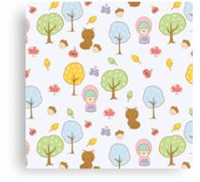 Cute Forest Friends Canvas Print