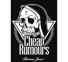 Cheap Rumours White #2 Photographic Print