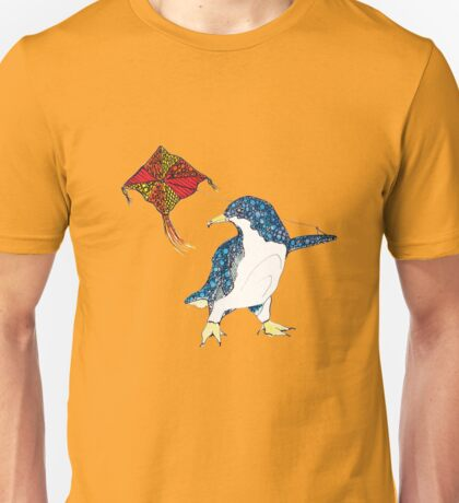 Penguin with a kite Unisex T-Shirt