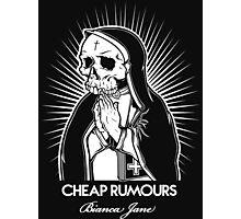 Cheap Rumours White #4 Photographic Print