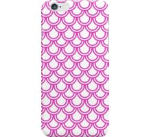 Girly Pink Modern Retro Scallop Pattern  iPhone Case/Skin