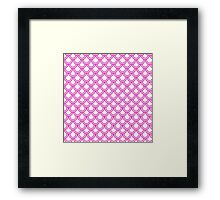 Girly Pink Modern Retro Scallop Pattern  Framed Print