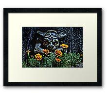 Gargoyle Garden Keeper Framed Print