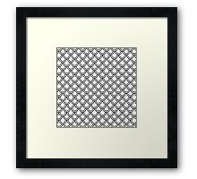 Modern Black White Retro Scallop Pattern  Framed Print