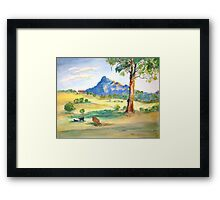 Mt Barney View with Cows Framed Print