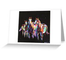 Paint Ponies Greeting Card