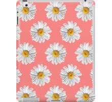 Daisies & Peaches - Daisy Pattern on Pink iPad Case/Skin