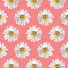 Daisies & Peaches - Daisy Pattern on Pink by Tangerine-Tane