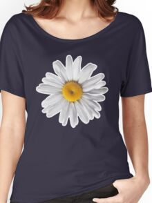 Daisies & Peaches - Daisy Pattern on Pink Women's Relaxed Fit T-Shirt