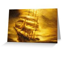 'Sailing ship at dawn' by Frank Abraham Greeting Card