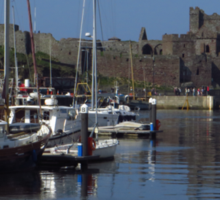 The Quay and Peel Castle Sticker