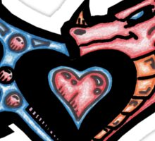 The Dragons Heart Sticker