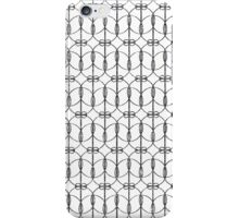 Abstract Girly Black Glitter Trendy Quatrefoil iPhone Case/Skin