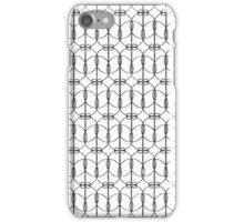 Abstract Girly Black Glitter Trendy Quatrefoil iPhone Case/Skin