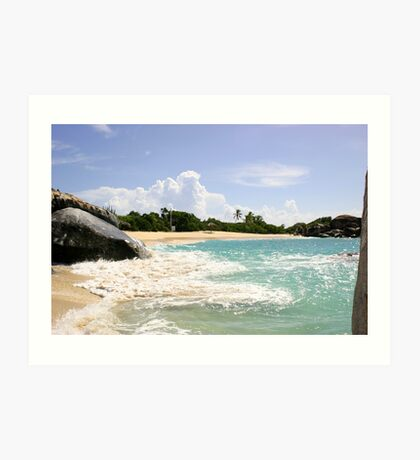 The Baths Beach Art Print