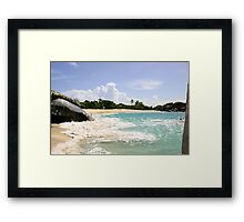 The Baths Beach Framed Print