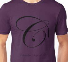 Edwardian Script Font Iconic Charactography - C Unisex T-Shirt
