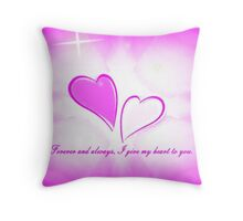 Forever and Always Throw Pillow