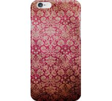 Vintage Red Cream Grunge Floral Damask Pattern iPhone Case/Skin