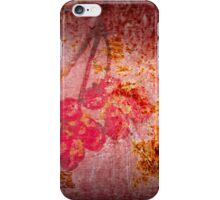 Old Wall Texture with Fruits iPhone Case/Skin