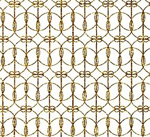 Abstract Girly Gold Glitter Trendy Quatrefoil by Maria Fernandes