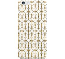 Abstract Girly Gold Glitter Trendy Quatrefoil iPhone Case/Skin