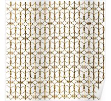 Abstract Girly Gold Glitter Trendy Quatrefoil Poster