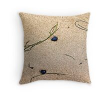 Blue Rocks and Seagrass Throw Pillow