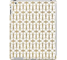 Abstract Girly Gold Glitter Trendy Quatrefoil iPad Case/Skin