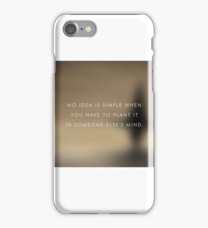 No Idea is simple iPhone Case/Skin
