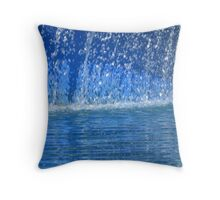 Cool Blue Rush Throw Pillow