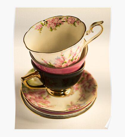 Tea-Cups Poster