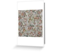 vintage Brown Green Elegant Floral pattern  Greeting Card