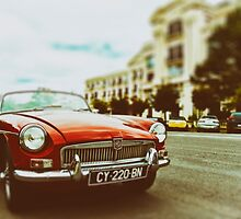Red convertible MG by benbdprod