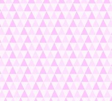 Girly Pink White Trendy Triangles Pattern by Maria Fernandes