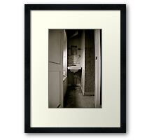 Cramped Sink Framed Print