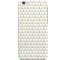 Girly Pink Green SymmetricTriangles Pattern iPhone Case/Skin