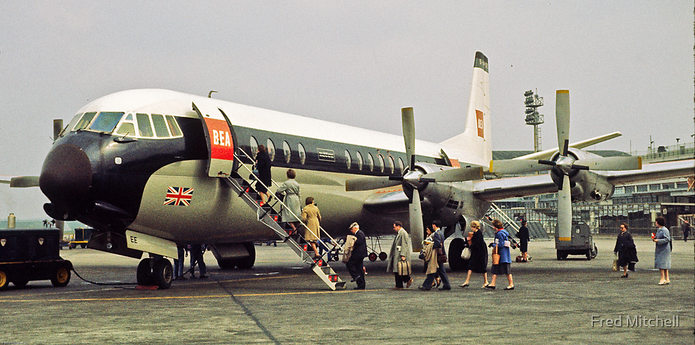 Vanguard loading at Paris Airport 1961 by Fred Mitchell