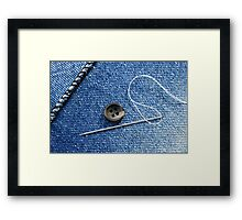 Sewing a Button Framed Print