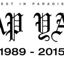 RIP A$AP Yams D-00002 Sticker