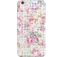 Vintage Pink Watercolor Roses Floral Polka Dots iPhone Case/Skin
