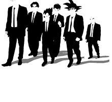 Dragon Ball Z Reservoir Dogs Goku Krillin Vegeta Gohan Insaiyan Train Insaiyan Or Remain The Same Train Insaiyan It's Over 9000 Goku's Gym Anime Cosplay Gym T Shirt by ryoka