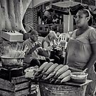 Lady at the Cartagena Christmas Festival by Deborah V Townsend