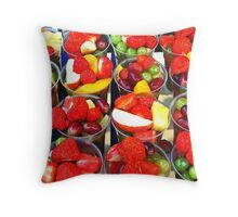 Yummy Yummy, - Fruit Cocktails Surrey County Show - Guildford Throw Pillow